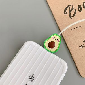 Image 4 - Funny Fruit Charging Cable Protector Cover For Mobile Phone USB Cable Data line Fracture prevention Cartoon Portable case