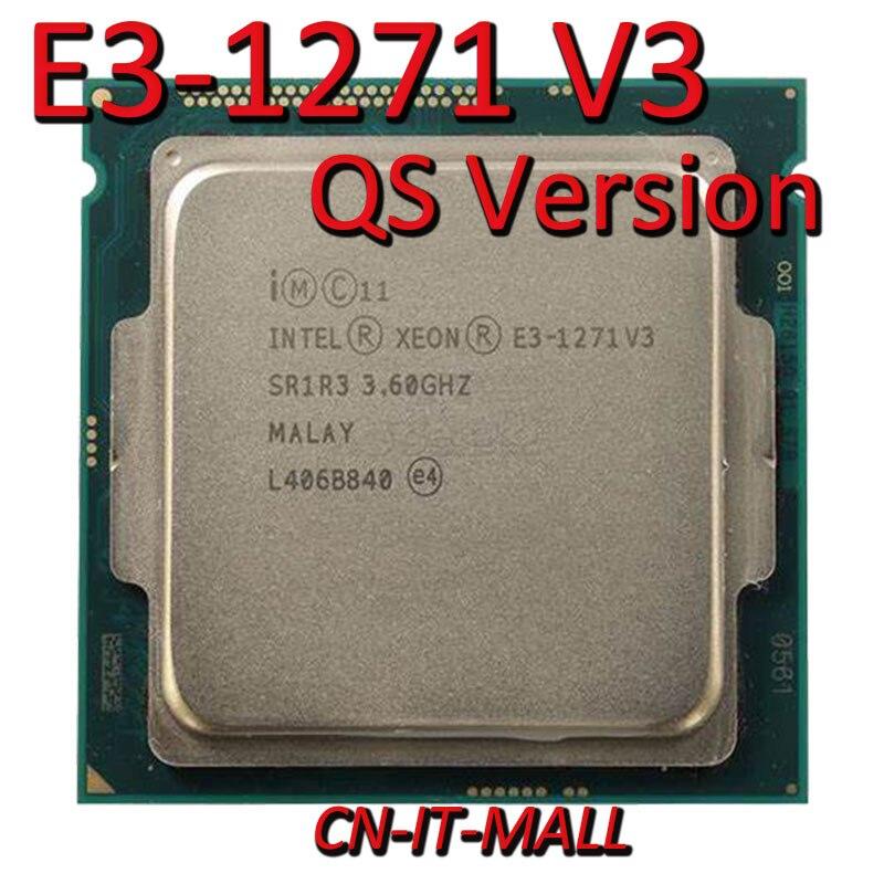 Intel Xeon E3-1271 V3 CPU 3.6GHz 8M 4 Core 8 Threads LGA1150 Processor