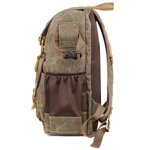 Image 4 - High Capacity Batik Canvas Fabric Photography Bag Outdoor Waterproof Camera Shoulders Backpack for Cannon/Nikon/Sony DSLR SLR