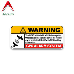 Aliauto Car-Sticker Boat Police-Decals Tracking-Link Real-Time PVC 13cm--6cm Sun-Screen