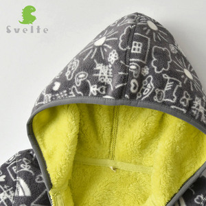 Image 5 - SVELTE for 2 7 Yrs Kid and Toddler Boy Lining Fur Fleece Hoodies Jackets Fluffy Sweatshirts Boy Clothes Printed Coats for Winter