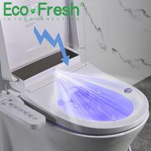 Умное сиденье для унитаза Ecofresh, U-образное электрическое биде, санитарная посуда, антибактериальное Автоматическое Сиденье для унитаза с по...
