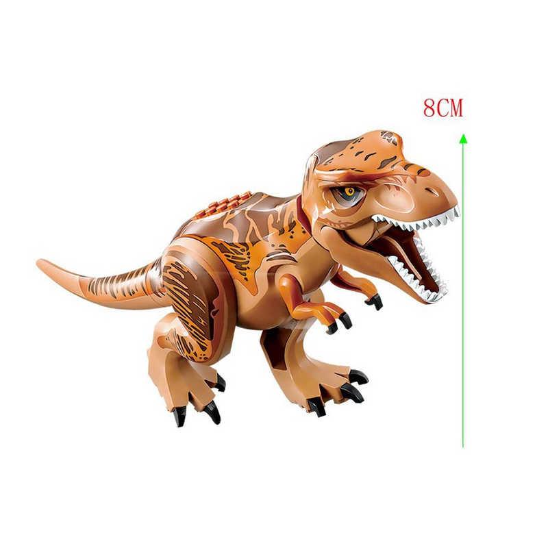 Legoing פרק יורה דינוזאורים חיות העולם תינוק צעצועי לבני Indominus רקס טריצרטופס טירנוזאורוס רקס אבני הדרקון דמויות