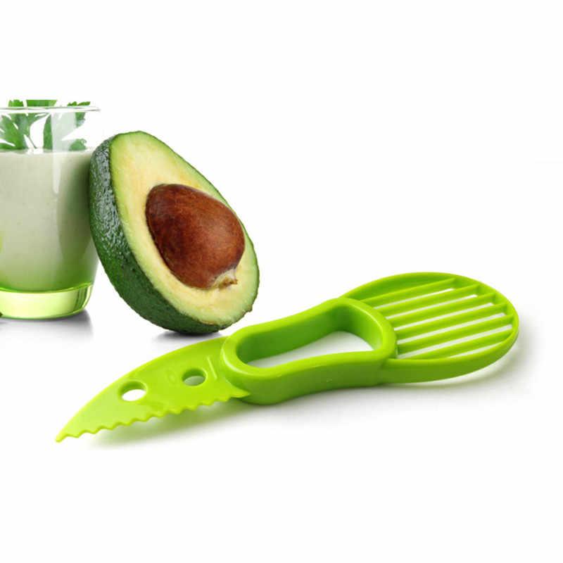 Multifuncional aguacate manteca de karité cuchillo para cortar fruta cuchillo especial Manual cortadora de fruta herramienta de cocina Gadget rallador TSLM2