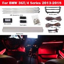 Tira de luces LED decorativa para coche, luz ambiental de neón, 9 colores, para BMW Serie 3, GT/4, serie 2013 2018, F32, F33, F34