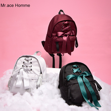 Cute Backpack Women College-Bag Girls Kawaii Bow for Japanese Homme Mr.ace Red