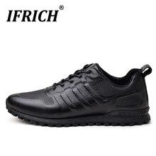 Golf-Shoes Waterproof Genuine-Leather Mens Original Black for Youth Anti-Slip Man