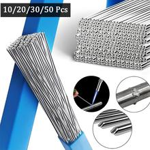 Haste de alumínio da soldadura da baixa temperatura do núcleo do fluxo do fio da soldadura da baixa temperatura, 10/20/30/50 pces, 1.6/2mm