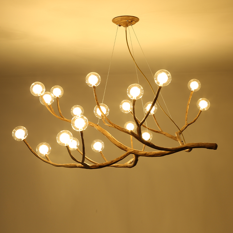 Retro Branch Hanglamp Nordic Living Room Magic Bean Molecular Pendant Light Vintage Luminarias Lustre Industriel Hanging Lights