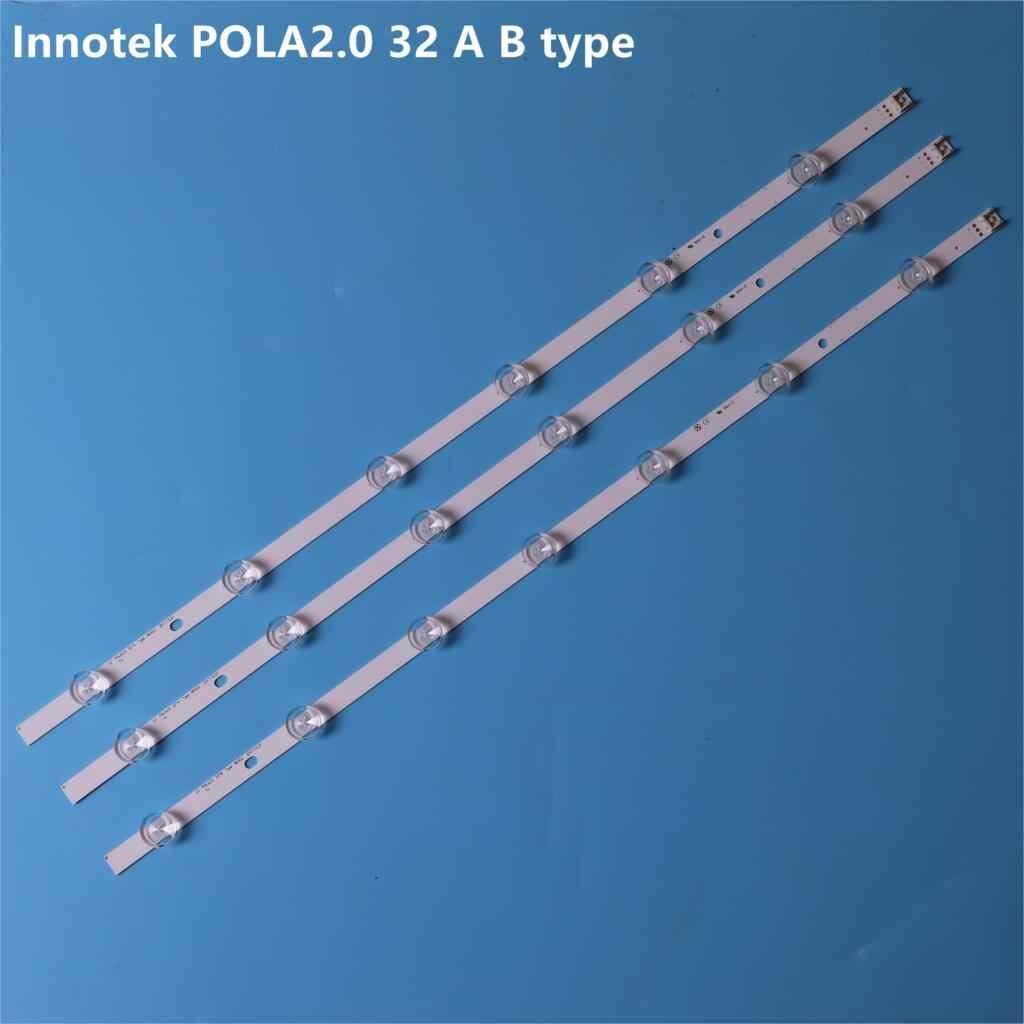 חדש 3pcs (2 * A * 6 נוריות, 1 * B * 7 נוריות) LED תאורה אחורית רצועת החלפה עבור LG טלוויזיה 32LN540 32LN550FD Innotek POLA2.0 32 אינץ B סוג