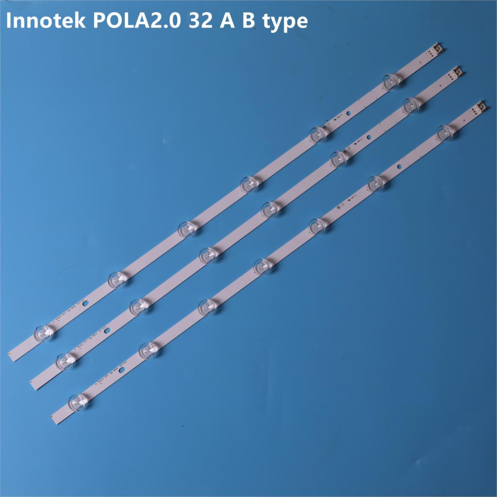 New 3pcs(2*A*6LEDs,1*B*7 LEDs) LED Backlight Strip Replacement For LG TV 32LN540 32LN550FD Innotek POLA2.0 32 Inch A B Type