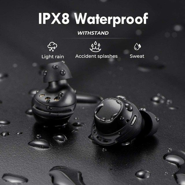 M30 Plus Bluetooth 5.0 Earphones True Wireless Earbuds Touch Control IPX8 Waterproof Headphones with 2600mAh Charging Case 6