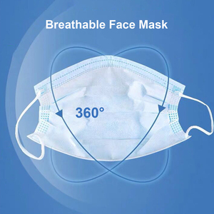 Image 3 - 50pcs mask Disposable Mask Non woven Fiber Fabric Breathable Face Mouth Mask