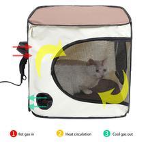 Переносная клетка для кошек без стресса, удобная коробка для сушки домашних животных, сушильная палатка для купания собак для внутреннего и наружного использования