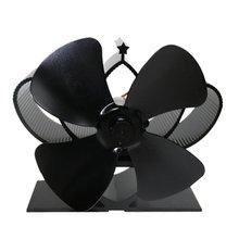 YL201 Thermische Power Kamin Fan Wärme Versorgt Holz Herd Fan Für Holz/Log Brenner/Kamin Eco Freundliche Vier-blatt Fans