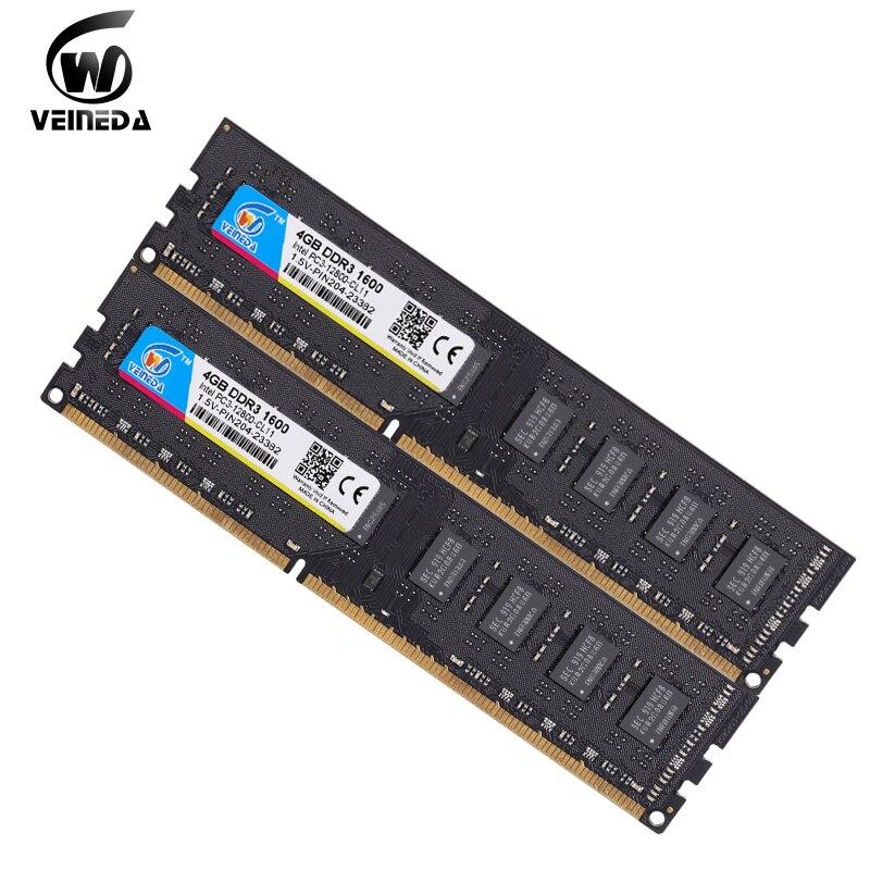 VEINEDA 2gb 4gb 8gb  Ram DDR3 Memory Ddr3 8 гб  Ddr 3 1333 For Desktop Compatible 1066 1600 PC DIMM Memory PC3-10600R 12800R