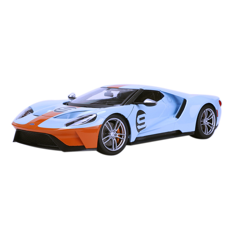 Gt Sports Car 1 18 Alloy Diecast Model Cars Static Simulation Metal Car Miniatures <font><b>Voiture</b></font> Mini Car Decoration Collection Toy image