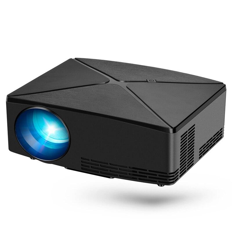 C80 projecteur 720P Mini Home cinéma Portable projecteur noir plastique Eu Plug