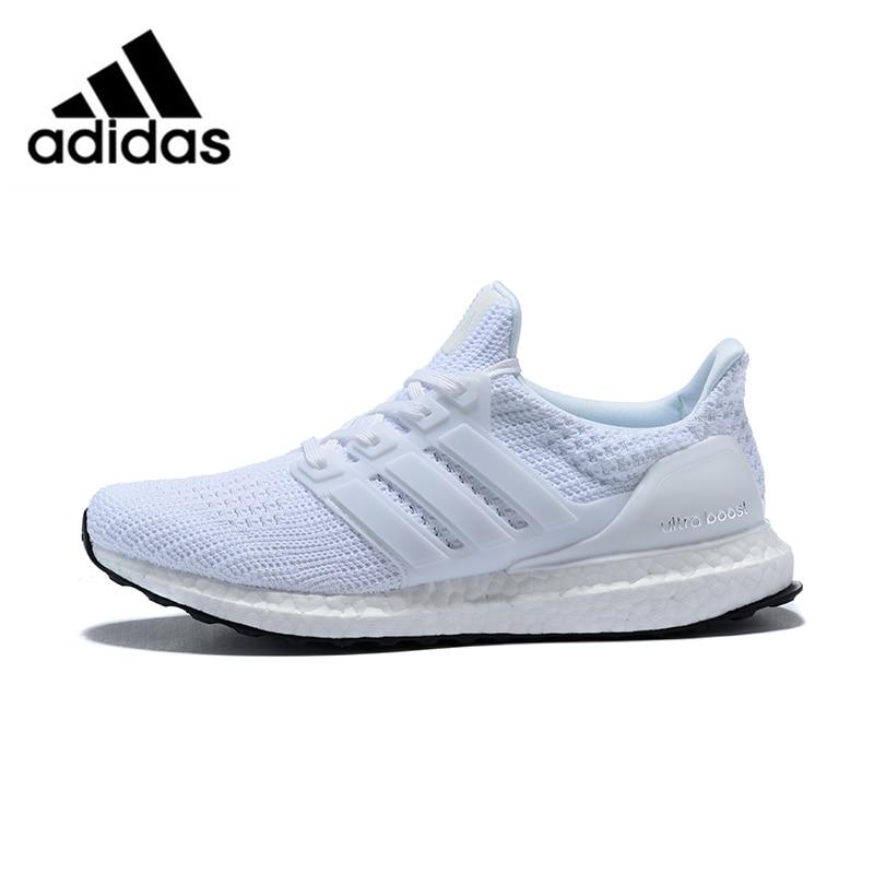 Chaussures de course pour hommes officiel Adidas Ultra Boost 4.0 UB 4.0 pop-corn sport blanc respirant à lacets BB6168