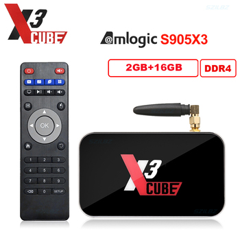 Android 9.0 Ugoos X3 Cube X3 PRO Smart TV Box Amlogic S905X3 4GB DDR4 2.4G 5G WiFi 1000M LAN VS X2 CUBE Set top box 2GB 16GB