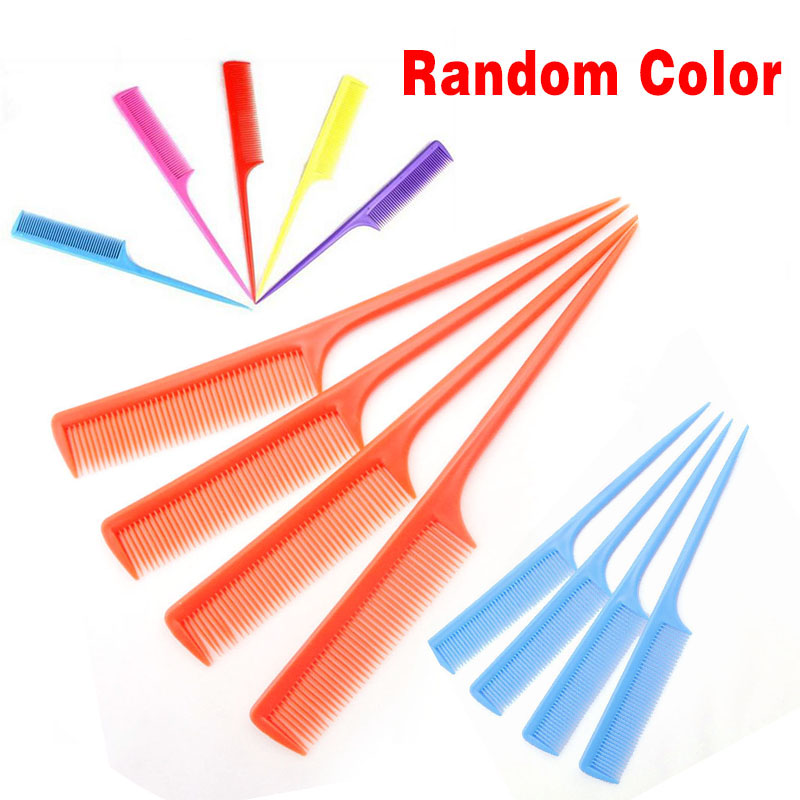 Hairdressing Tip Comb Sectional Comb Hairdressers Barbers 7 Colors Hair Tail Comb Rat For Styling 1Pc Colors Random
