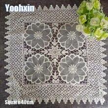 Лидер продаж квадратный кружевной коврик для стола с вышивкой