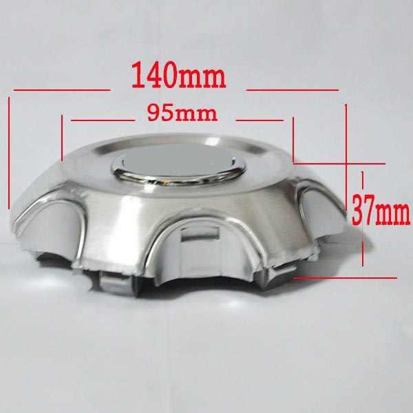 4pcs 140mm 95mm כסף מלא כרום גלגל מרכז רכזת סגסוגת צלחות גלגלי Fit 2007-2013 טויוטה לנד קרוזר 4000 Prado 4.0L