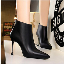 2020 Pointed Toe Sexy High Heels Ankle Boots For Women Autumn Spring Fashion Party Dress Thin Heel Short Boots Shoes kiiyilala pointed toe sexy high heels ankle boots for women autumn spring fashion boots with rivets thin heels short boots shoes