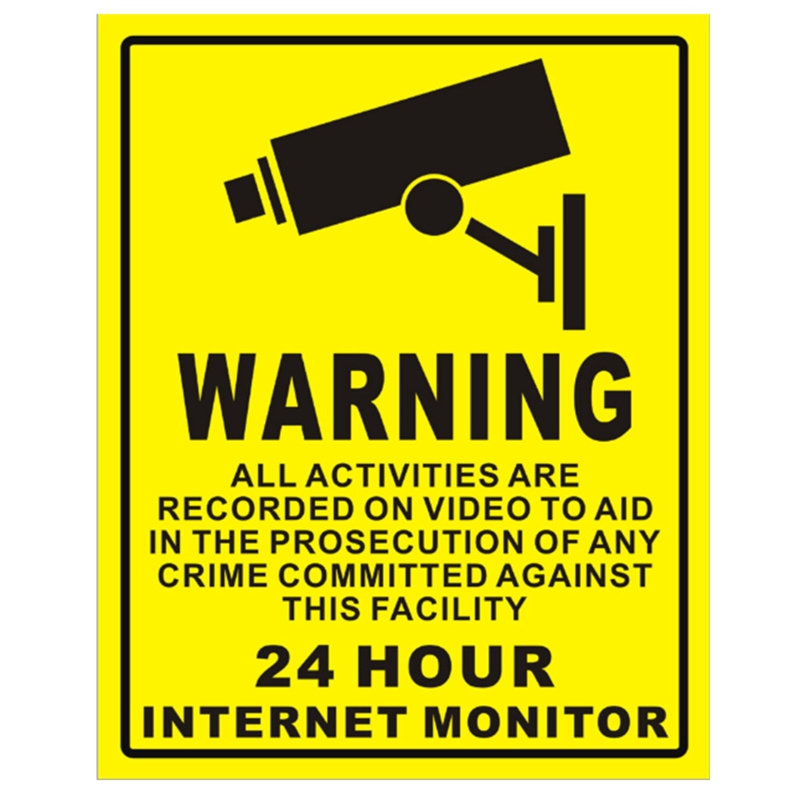 1/10pcs Waterproof Sunscreen PVC Home CCTV Video Surveillance Security Camera Alarm Sticker Warning Decal Signs