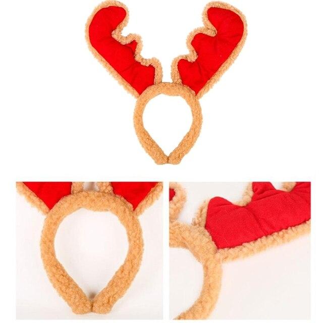 Christmas Headband Reindeer Antler Santa Snowman Hair Hoop Holiday Headpiece X7YA| |   -