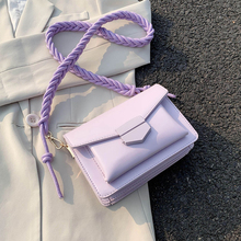 Braided Shoulder Strap Design Small PU Leather Crossbody Bags for Women 2020 Lady  Shoulder Handbag Female Luxury Flap Bag цена 2017