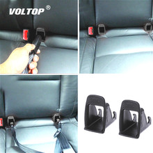 2 pièces voiture bébé couverture de ceinture de sécurité accessoires intérieurs pour filles ISOFIX loquet ceinture connecteur Guide rainure Auto attache Clip