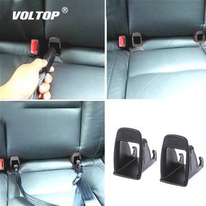 Image 1 - 2 stuks Auto Baby Seat Belt Cover Interieur Accessoires voor Meisjes ISOFIX Klink Riem Connector Gids Groove Auto Fastener Clip