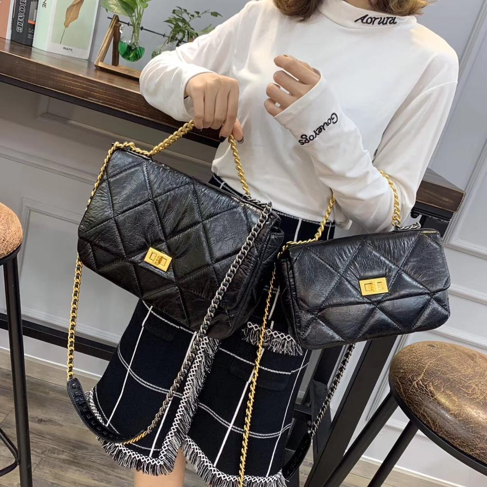 New Designer Chain Crossbody Bag For Women 2020 Plaid Quilted Shoulder Bag High Quality Handbags Ladies Luxury Messenger Bag Ins