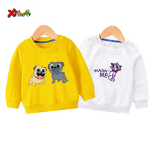 купить children sweatshirt hoodies girls Cartoon long sleeves baby boy outfit white sweatshirt boys clothes 2 3 years cute long sleeves по цене 336.73 рублей