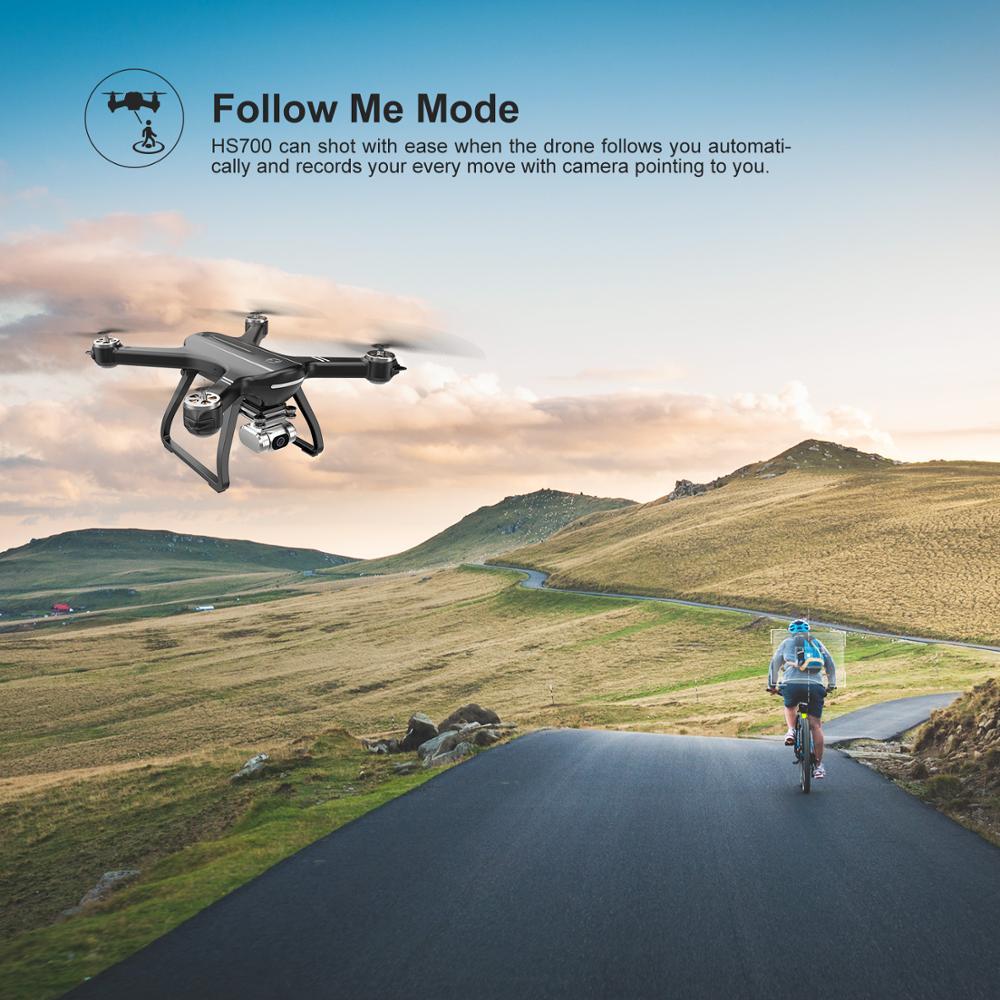 Купить с кэшбэком HolyStone HS700D Drone GPS Brushless 5G 800M WIFI FPV 2K Camera Full HD GPS RC Drone 1km 1000M 22 Mins Profesional  Quadcopter