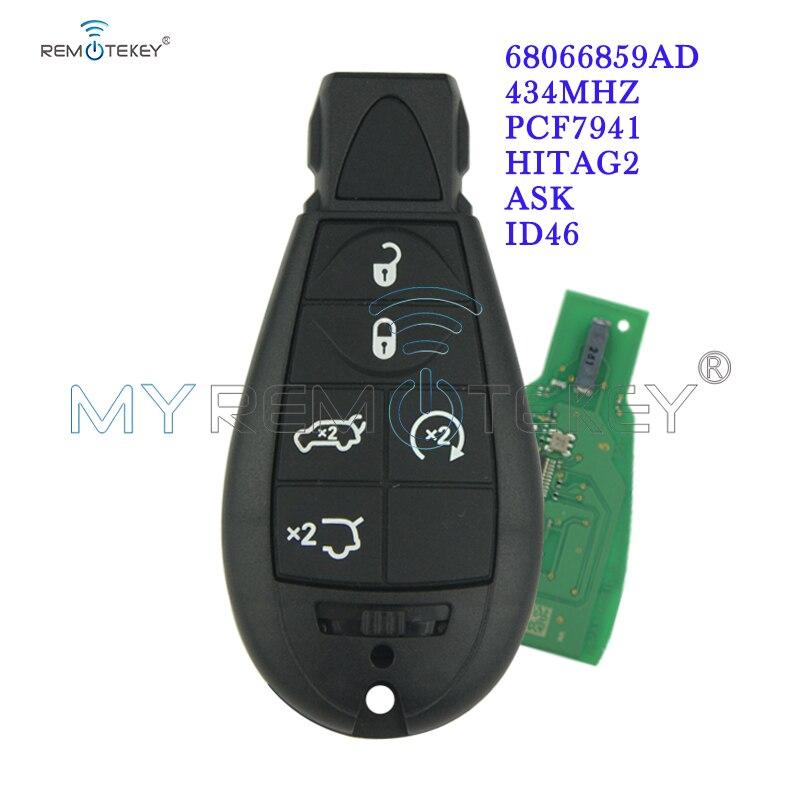 Remtekey #7 68066859AD Caliber Grand Cherokee Fobik key remote 5 button 434Mhz for Chrysler European model|Car Key| |  - title=