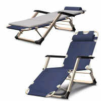 Office Nap Bed Chair 8 Gear Adjustable Chaise Lounge Outdoor Portable Balcony Beach Recliner Zero Gravity Chair Strong Bearing