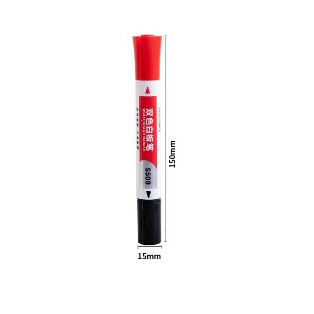 2 шт Двусторонняя стираемый маркер для белой доски ручка синего