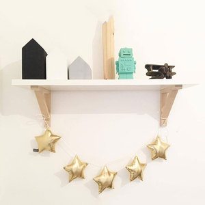 Nordic Baby Room Decoration Wall Hanging Ornaments Handmade Nursery Moon Star Garlands Girl Bedroom Decor Photo Props