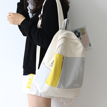 2020  new design color match girls backpack women leisure bag teenager school student book bag daily bag young ajalt japanese for young people ii student book