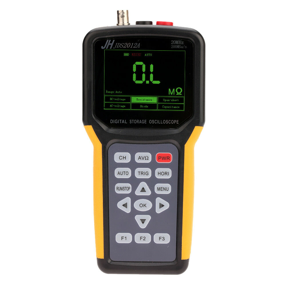 JINHAN JDS2012A Portable Oscilloscope 20 <font><b>MHz</b></font> 1 Channel Digital Storage Dual Channel <font><b>200</b></font> M Sa / s Handheld Oscilloscope image