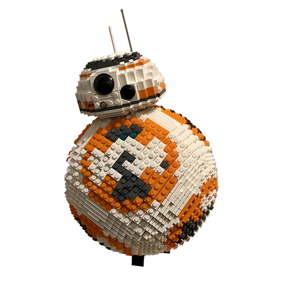 New <font><b>Star</b></font> Space <font><b>Wars</b></font> <font><b>Bb8</b></font> Robot Starfighterr Technic with Figures Model Starwars Building Block Bricks Toys 75187 Gift Kid Boys image