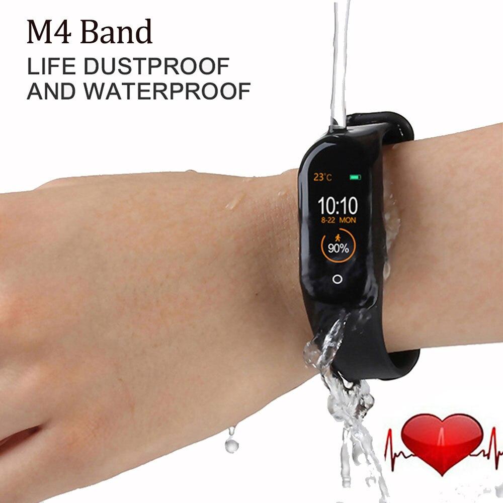 Bluetooth M4 смарт-браслет водонепроницаемые часы измерение артериального давления монитор сердечного ритма фитнес-трекер Смарт-браслет PK M3 Plus 2