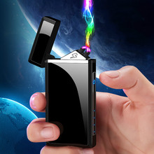 2019 New Double Plasma Arc Lighter Windproof Electronic USB Recharge Cigarette S