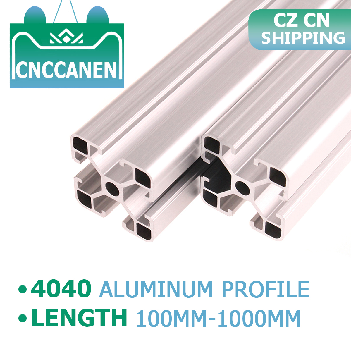 CZ CN Shipping 2PCS 4040 Aluminum Profile Extrusion 100mm-1000mm Length European Standard Anodized For CNC 3D Printer Parts DIY
