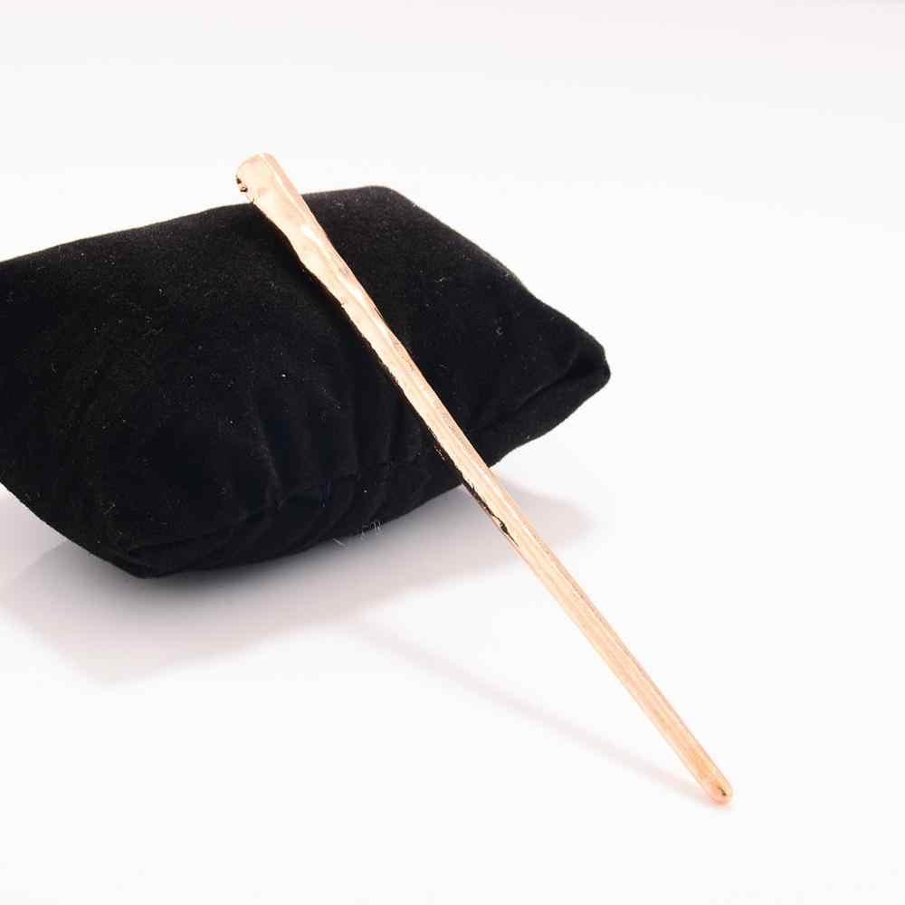 Модные Простые Персонализированные палочки для волос женские металлические шпильки аксессуары для волос ювелирные изделия для подарка Вечерние