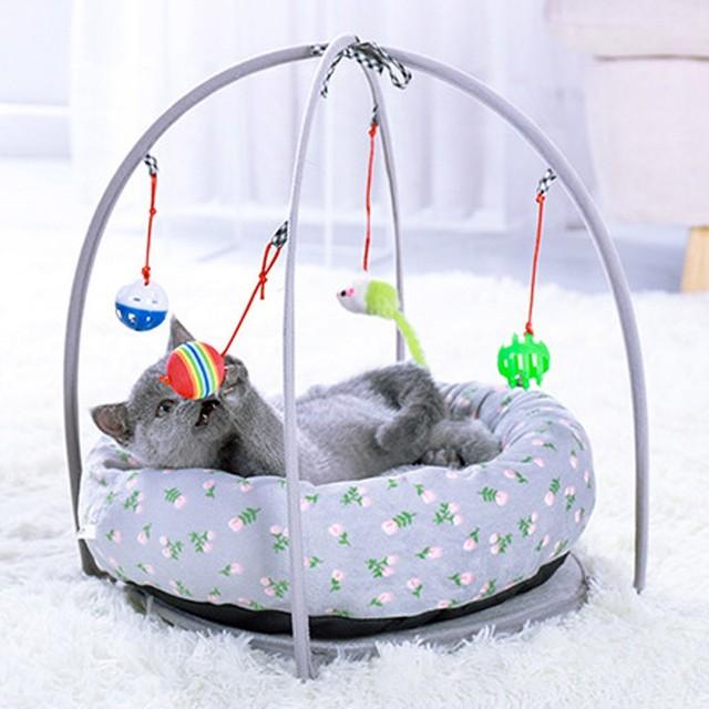 Portable Pet Cat Toys Funny Cat Tent Toys Mobile Activity Pets   1