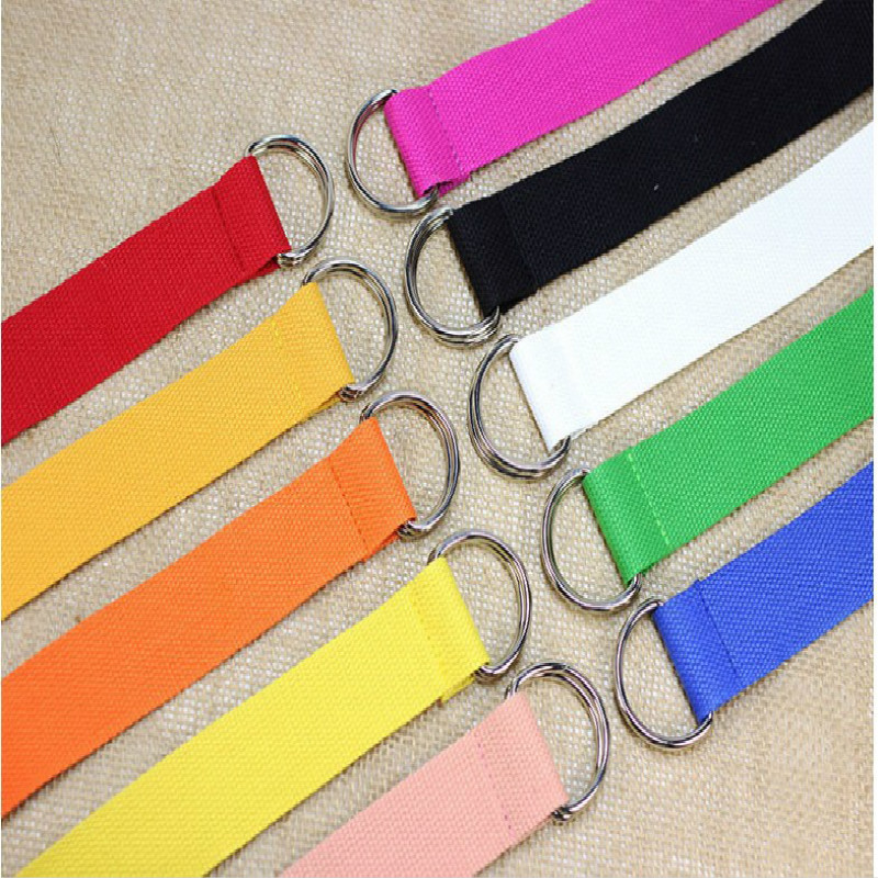 Unisex Canvas Belt Waistband Webbing Belt Jeans Straps Dress Pants Accessories