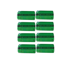 8 x PKCELL 2/3AA  1.2V Ni MH Battery 650mAh  NiMh Rechargeable Battery For Soldering Flat Top For  touch pen, Bluetooth